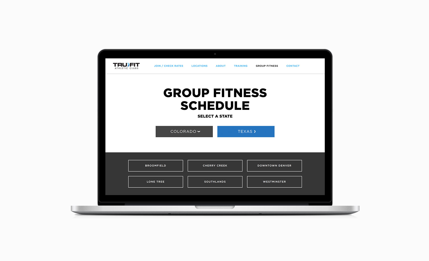 Big De Creative Trufit Athletic Clubs Website 2016